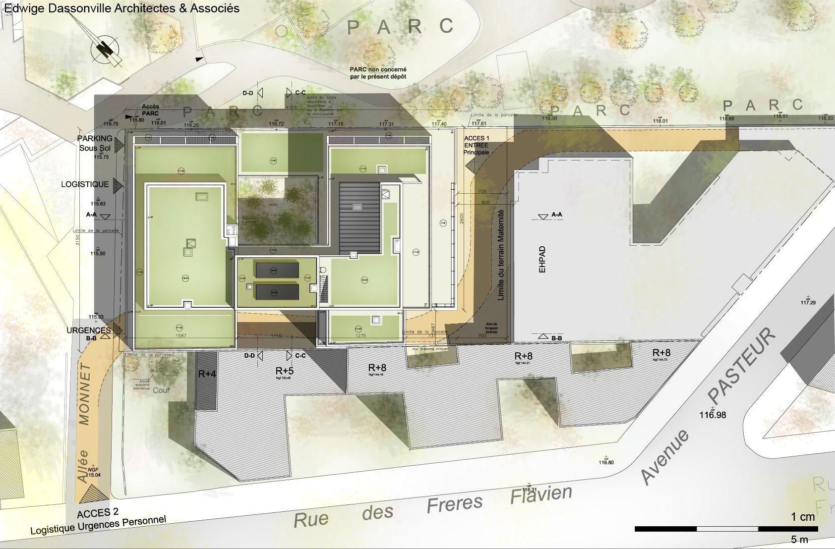 Extrem Dessin D'architecture D'un Plan De Masse – Maison Moderne UQ23